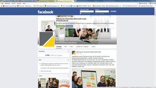 Facebook-Auftritt der Stiftung der Deutschen Wirtschaft