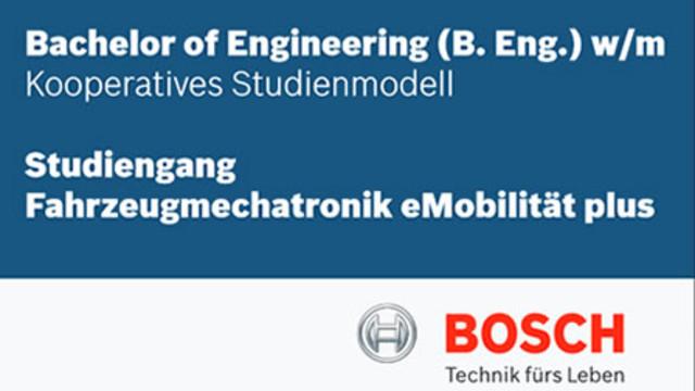 Infos zum kooperativen Studienmodell Fahrzeugmechatronik eMobilität plus